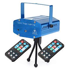 u'king® 10w 7modes rouge&vert mini-étoile lumières étoilé de scène laser ciel avec 2 * 1pcs télécommande
