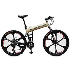 אופני הרים מתקפל אופניים רכיבת אופניים 21 מהיר 700CC/26 אינץ' מבוגר יוניסקס Shimano דיסק בלימה מזלג שיכוך שלדת אלומיניום נגד החלקה