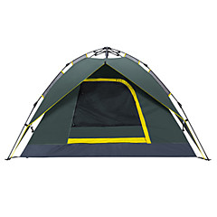 cheap Tents, Canopies & Shelters-Makino 3 - 4 person Tent Double Camping Tent Outdoor Automatic Tent Waterproof Quick Dry Breathability for Hiking Camping Outdoor