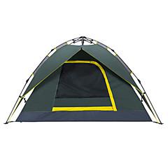 billige Telt og ly-Makino 3-4 personer Telt Dobbelt camping Tent Utendørs Automatisk Telt Vanntett Fort Tørring Pusteevne til Vandring Camping Utendørs