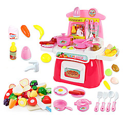 billiga Leksakskök och -mat-beiens Toy köksutrustning Leksaks svDishes & Tea set Barn Cooking Appliances Låtsaslek LED-belysning Ljud ABS Flickor Barn Present 22pcs