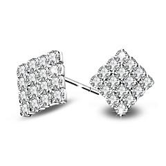 Øredobber Kubisk Zirkonium Zirkonium Platin Belagt Sølv Smykker Til Bryllup Fest Daglig Avslappet 1 par