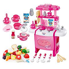 Tue so als ob du spielst Spielzeug-Küchen-Sets Spielzeug Geschirr Tee-Sets Kinderkochgeräte Spielzeuge Spielzeuge LED - Beleuchtung Klang