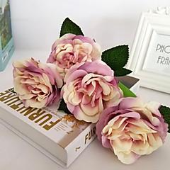 ieftine -5 ramură Mătase Trandafiri Flori artificiale 30