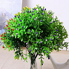ieftine -1 ramură Plastic Plante Față de masă flori Flori artificiale