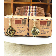 50pcs New Stamp Kraft Paper Candy Boxes Wedding Favor Box Party