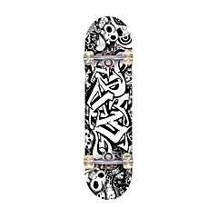 Standard Skateboards Professional Maple ABEC-7-Black Skull