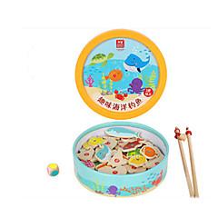 billige Brettspill-Magnetiske leker fiske Toys Fisk Tegneserie Originale 39 pcs Barne Gutt Jente Leketøy Gave