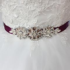 Satin Wedding Party/ Evening Dailywear Sash With Rhinestone Beading