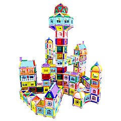צעצוע מגנטי מקלות מגנטיים אבני בניין Playsets רכב מגדיר בניין מגדיר צעצועים צעצועים מגנטי לא מפורט יוניסקס חתיכות