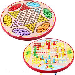 Deskové hry Chess Game Otcovské hry Vzdělávací hračka Hračky Kulatý Dřevo Pieces Dětské Unisex Dárek