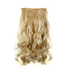"""levne Syntetické příčesky-22"""" Umělé vlasy Prodlužování vlasů Vlnitá Klasický Připínací Denní Vysoká kvalita syntetický Dámské"""