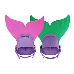 Schnorchel Sets Tauchen Flossen Tauchpakete Trainingsgeräte Schwimmflossen Einstellbare Passform Kurze Flossen Meerjungfrau Tauchen und