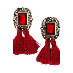 Women's Drop Earrings Unique Design Tassel Costume Jewelry Crystal Alloy Jewelry Jewelry For Party Daily Casual