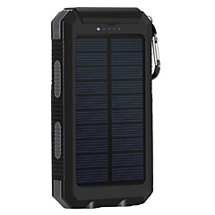 billige Eksterne batterier-8000mAhstrømbank eksternt batteri Solenergilading Flere utganger Lommelykt 8000 2000 Solenergilading Flere utganger Lommelykt