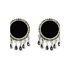 Kolczyki wiszące Klasyczny Stop Black Biżuteria Na Casual 1 para