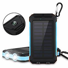 billige Eksterne batterier-6000mAhstrømbank eksternt batteri Solenergilading Flere utganger Lommelykt 6000 2000 Solenergilading Flere utganger Lommelykt