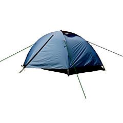2 personer Telt Dobbelt camping Tent Ett Rom Turtelt Fukt-sikker Velventilert Hurtighet Vanntett Bærbar Fort Tørring Ultraviolet