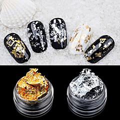 2ader folyo tırnak makyaj dekorasyonu altın gümüş folyo