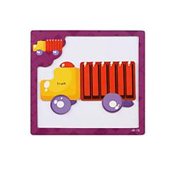 3D - Puzzle Bildungsspielsachen Holzpuzzle Spielzeugautos Lastwagen Spielzeuge LKW 3D Kinder Stücke