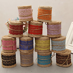 halpa Häänauhat-Juutti Häät Nauhat - 1 Kukin / Set Weaving Ribbon Decorate favor holder Decorate gift box Decorate wedding scene