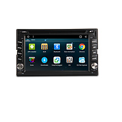 cheap Car DVD Players-6.2 inch 2 DIN Android6.0 In-Dash Car DVD Player Built-in Bluetooth / GPS / RDS for Support / 3D Interface / Steering Wheel Control / WiFi / Subwoofer Output / Games