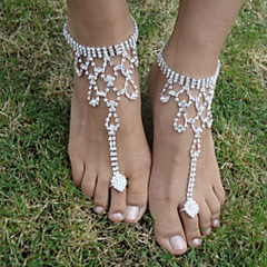 cheap Body Jewelry-The Bride Diamond Anklets Wedding Party Special Occasion 1 Piece (not 1 pair)