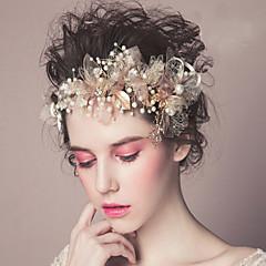 baratos Acessórios de Cabelo-Pérola Headbands Flores Pele de cabelo Ferramenta de cabelo Grinaldas Presilha de cabelo 1 Casamento Ocasião Especial Casual Ao ar livre