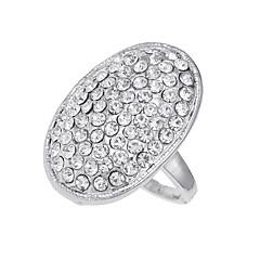 billige Motering-Herre Logo Band Ring - Diamant, Legering Unikt design, Vintage, Euro-Amerikansk 6 / 7 / 8 / 9 / 10 Sølv Til Fest Spesiell Leilighet