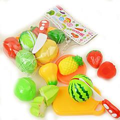 billiga Leksakskök och -mat-Toy köksutrustning Leksaksmat Leksakskök och -mat Leksaker Cirkelrunda Grönsaker Plast Flickor Barn Present 9pcs