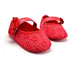 cheap Wedding Shoes-Kids' Flats Spring Fall First Walkers Fabric Wedding Outdoor Party & Evening Dress Casual Flat Heel Bowknot Hook & Loop