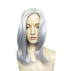 billiga Peruker och hårförlängning-Syntetiska peruker Rak / Kinky Rakt Syntetiskt hår Lila Peruk Dam Mellan Utan lock Lila