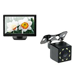 5 carro tft lcd monitor e carro visão traseira backup câmera de visão noturna 8led