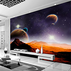 cheap -Galaxy Planet Custom 3D Large Wallcovering Mural Wallpapers Fitted Restaurant Bedroom Office Natural Scenery