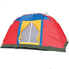 billige Telt og ly-3-4 personer Telt Enkelt camping Tent To Rom Brette Telt Fukt-sikker Vanntett Regn-sikker Pusteevne til Vandring Camping Reise Utendørs