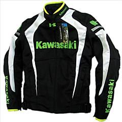baratos Jaquetas de Motociclismo-Motocicleta respirável cinto de algodão flanchard jaqueta motocicleta jaqueta de corrida de automóvel têm proteção preto&branco