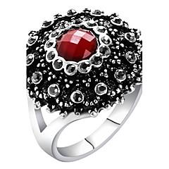 billige Motering-Dame Statement Ring Ring - Glass, Legering Statement, damer, Personalisert, Luksus, Unikt design, Vintage 7 / 8 / 9 / 10 Rød / Grønn / Blå Til Fest jubileum Bursdag