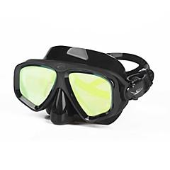 billiga Dykmasker, snorklar och simfötter-Snorkelmask / Simglasögon Skyddande Två Fönster - Simmning, Dykning Silikon, Fierglas - för Vuxen Gul / Fuchsia / Blå