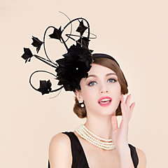 cheap Party Hats-Rhinestone Feather Fascinators Hats Headpiece Classical Feminine Style