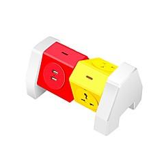 Abs barevný napájecí port 4 porty s 2 USB porty pro nabíjení 180 stupňů volné rotace přes rozsah ochrany