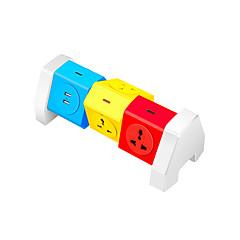 abs värikäs teho liuska 6 portti 2 USB täyttöaukon 180 asteen vapaan pyörimisen aikana alueella suojaus