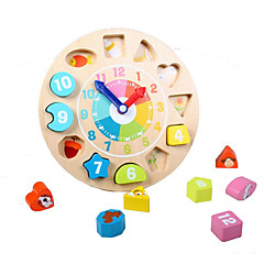 Χαμηλού Κόστους Παιχνίδια εκμάθησης μαθηματικών-Ξύλινο παιχνίδι ρολογιών / Μαθηματικά παιχνίδια 1pcs Κλασσικό Αγορίστικα Δώρο