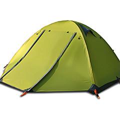 FLYTOP 3-4 personer Telt Dobbelt camping Tent Ett Rom Brette Telt Vanntett Vindtett Ultraviolet Motstandsdyktig Regn-sikker Sammenleggbar