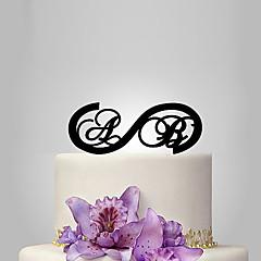 billige Kakedekorasjoner-Kakepynt Hage Tema Klassisk Tema rustikk Theme Monogram Akryl Bryllup jubileum Utdrikningslag med OPP