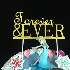 cheap Cake Toppers-Cake Topper Classic Theme Rustic Theme Classic Couple Card Paper Wedding Anniversary Birthday Bridal Shower Baby Shower Quinceañera &