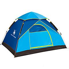 billige Telt og ly-3-4 personer Telt Enkelt Automatisk Telt Ett Rom camping Tent Fibre de verre Vanntett Vindtett Ultraviolet Motstandsdyktig Sammenleggbar-