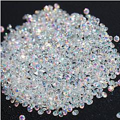 720pcs mikro gyémánt diy köröm strassz kristály lapos vissza nem gyorsjavítás strassz matrica van szüksége ragasztó köröm díszítés