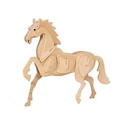 baratos -Quebra-Cabeças 3D Brinquedos de Montar Modelos de madeira Cavalo Diversão Madeira Clássico Crianças Unisexo Brinquedos Dom