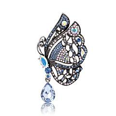 Dame Brocher Dyredesign Personaliseret Euro-Amerikansk Mode Perle Rhinsten Legering Dyreformet Smykker Til Bryllup Fest Speciel Lejlighed