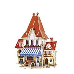 preiswerte -3D - Puzzle Holzmodell Modellbausätze Spielzeuge Haus Holz Kinder 1 Stücke